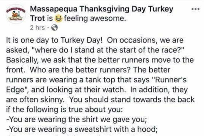 Massapequa Thanksgiving Day Turkey Trot