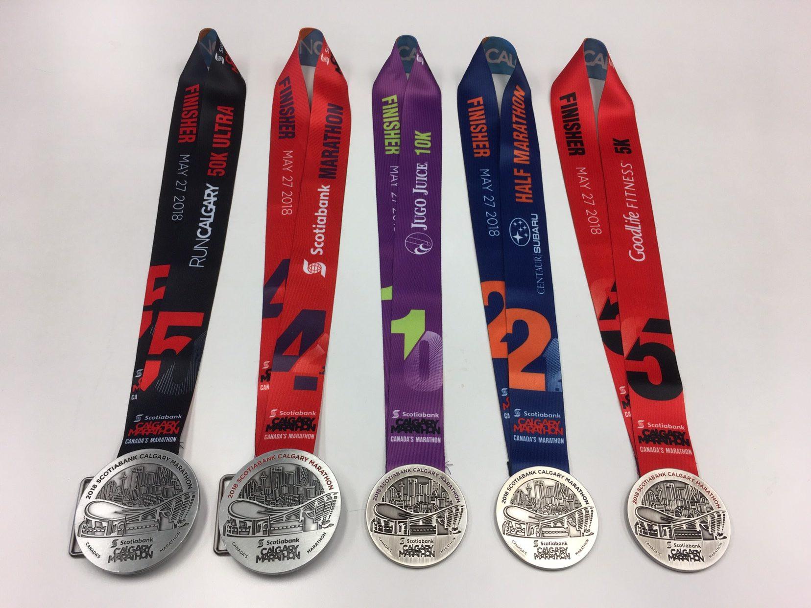 Calgary Marathon Medal