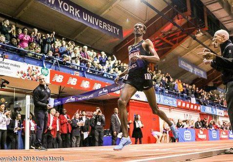 watch 4622f 6c812 WORLD RECORD ALERT  Kejelcha breaks mile record at Boston University