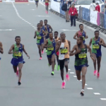 Unbelievable mass finish at Dubai Marathon